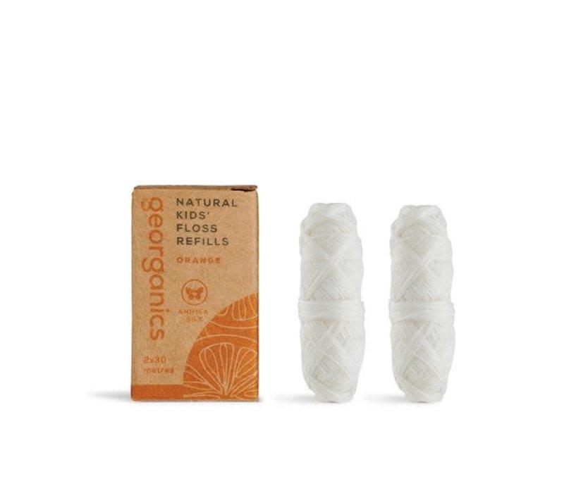 Georganics - Refill Dental Floss Carbon - Orange