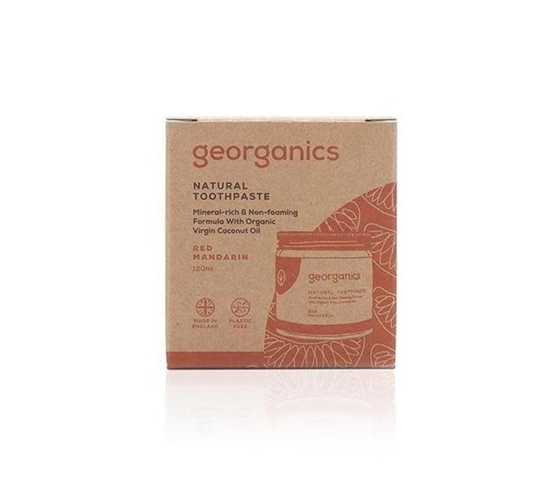 Georganics - Natural Mineral-rich Toothpaste - Red Mandarin 120ml