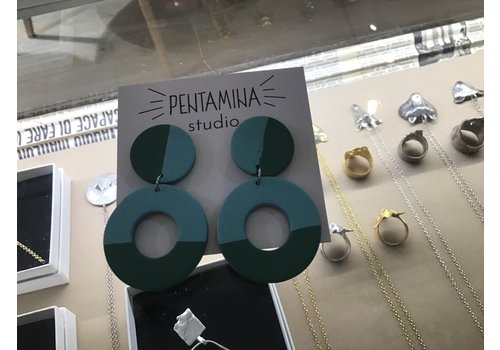 Pentamina Pentamina - Flameco Earrings - Verde/Turquesa