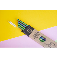 SUP - Smoothie Straws 4pk - Rainbow