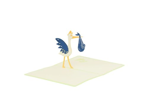 XiuXiu XiuXiu - Paris Stork - Greeting Card