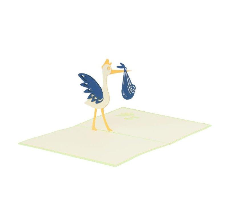 XiuXiu - Paris Stork - Greeting Card