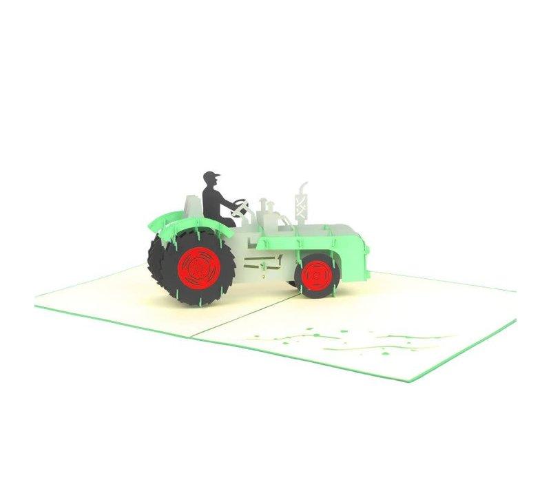 XiuXiu - Farm Tractor - Greeting Card