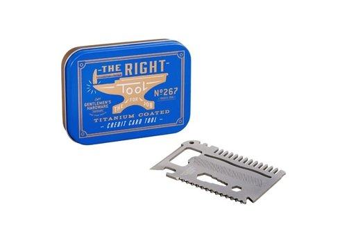 Gentlemen's Hardware Gentlemen's Hardware - Credit Card Tool Titanium Finish