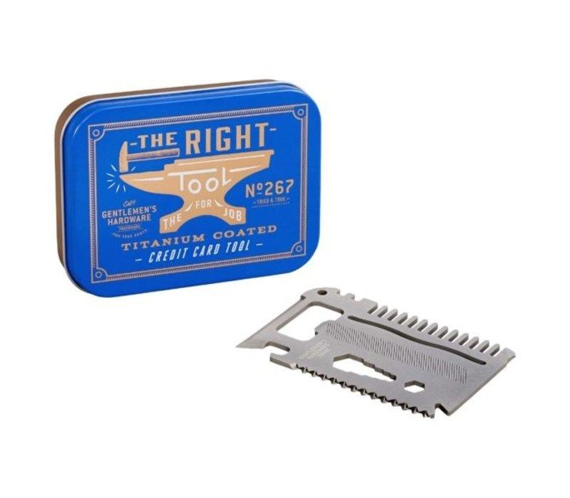 Gentlemen's Hardware - Credit Card Tool Titanium Finish