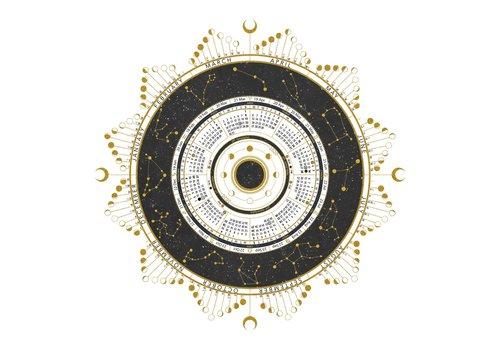 Maria Rikteryte Maria Rikteryte - 2020 Lunar Calendar Design 1 (White)