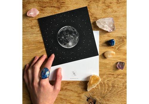 Maria Rikteryte Maria Rikteryte - Silver Moon - Mini Print