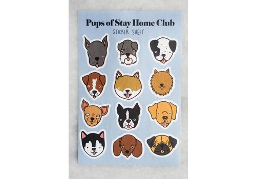 Stay Home Club Stay Home Club - Pups of SHC - Sticker Sheet
