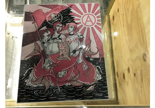 Rapha Hu Rapha Hu - Mermen  - A5 Print