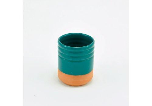 Casa Atlántica Casa Atlántica - Vaso de Terracotta  - Verde Sulfato