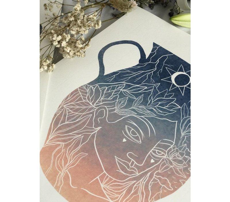 Hanako Mimiko - Jarrón - Print