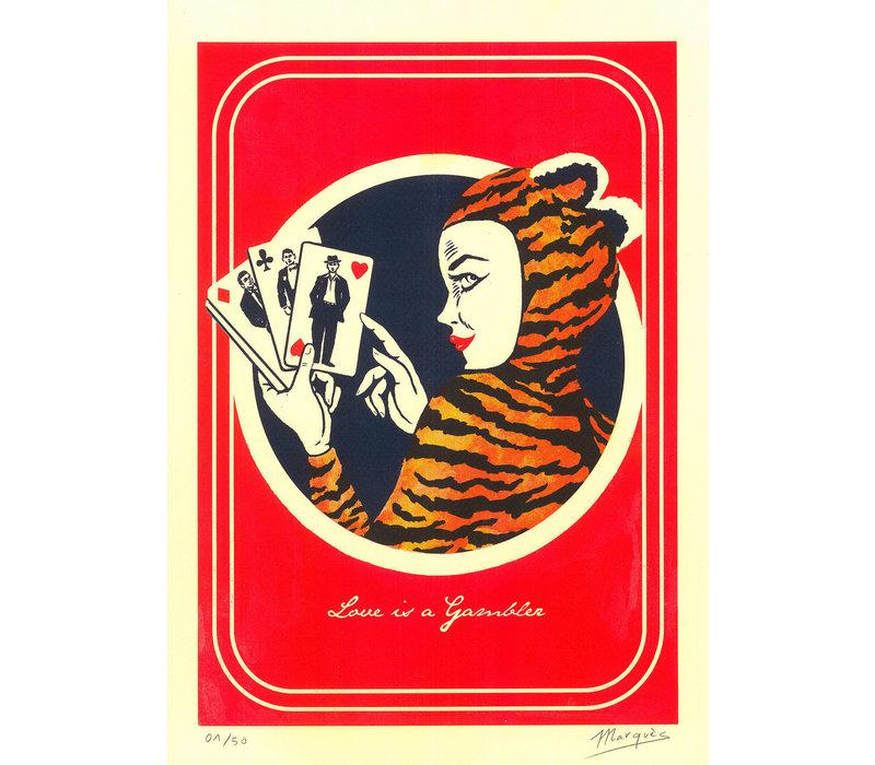 El Marquès - Love is a Gambler - A3 Risograph