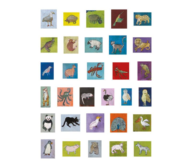 Pomegranate - Kathy DeZarn Beynette: Animal Crackers - Sticker Book