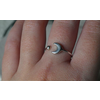 Âme Âme Jewels - Crescent Moon and Dot - Silver Ring