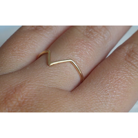 Âme Jewels  - Triangle Chevron Ring - Gold PlatedSilver