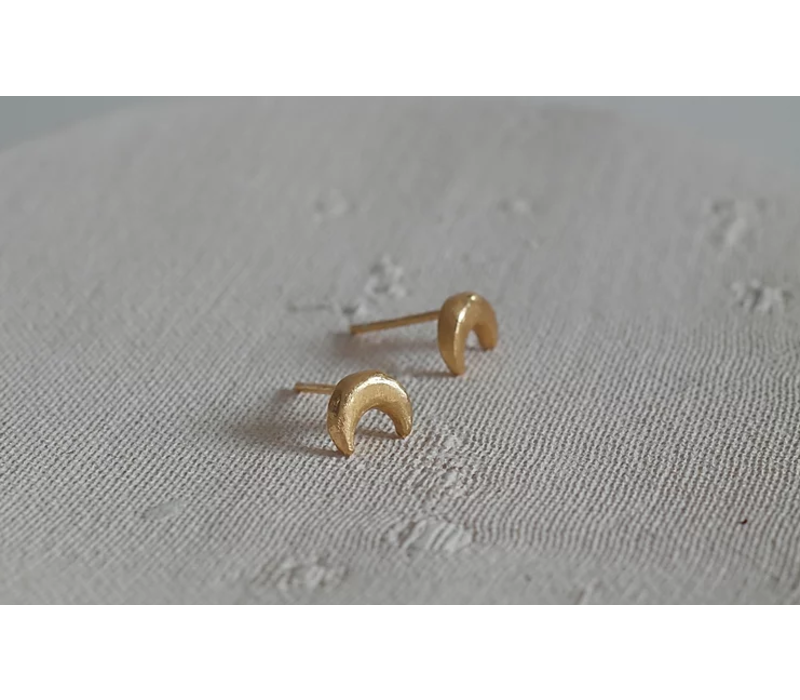 Âme Jewels - Crescent Moon Earrings - Gold