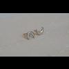 Âme Âme Jewels - Crescent Moon Earrings - Silver