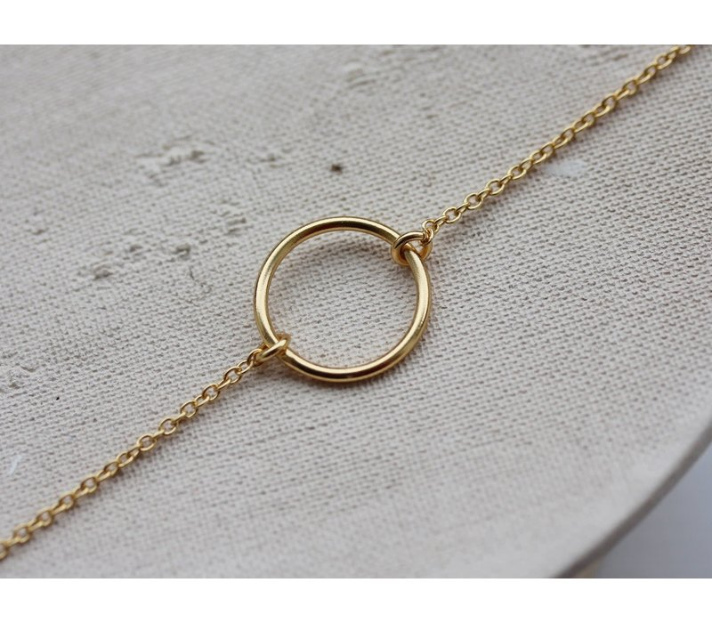 Âme Jewels - Empty Circle Bracelet - Gold