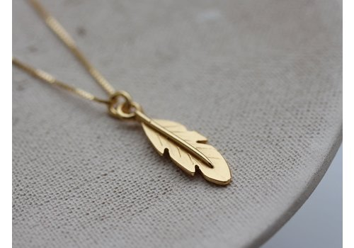 Âme Ame Jewels - Feather - Gold Necklace