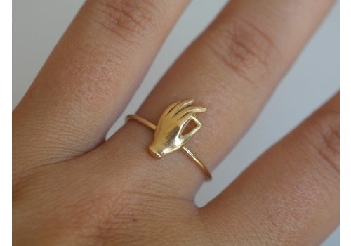 Âme Âme Jewels - Gyan Mudra Ring - Gold