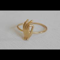 Âme Jewels - Gyan Mudra Ring - Gold