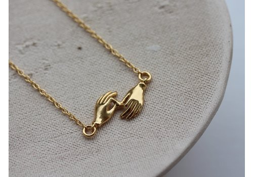 Âme Âme Jewels - Two Gyan Mudras Necklace - Gold