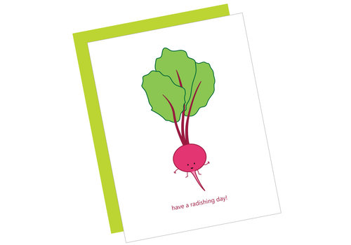 Queenie's Cards Queenie's - Have a Radishing Day!