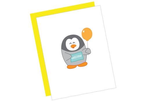 Queenie's Cards Queenie's - Welcome Penguin
