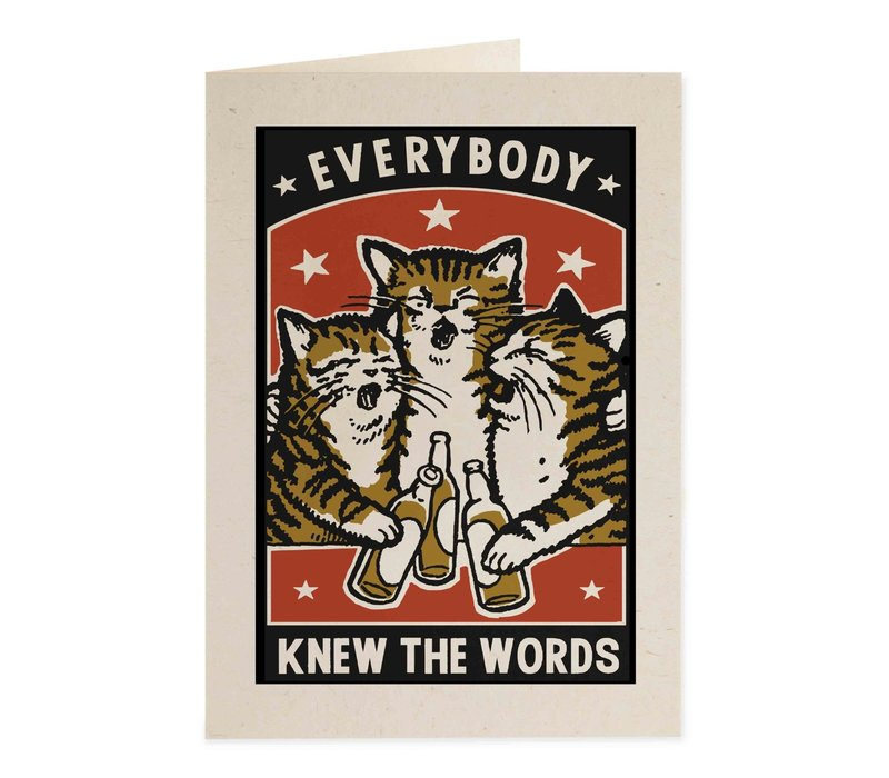 Archivist Gallery - Know Words - Greeting Card