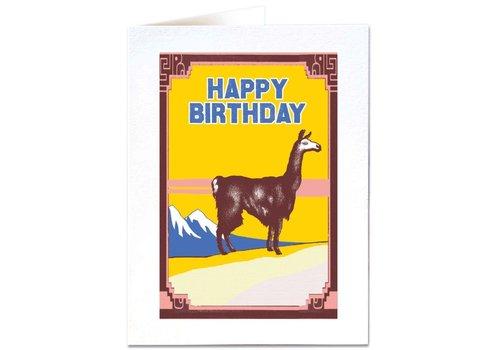 Archivist Gallery Archivist Gallery - Llama - Greeting Card