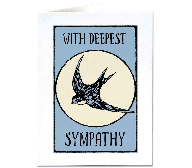 Archivist Gallery - Swallow Sympathy - Greeting Card