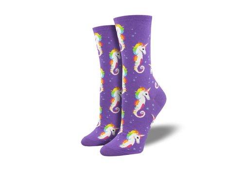 Socksmith Socksmith - Sea Unicorn Purple - Women's Socks
