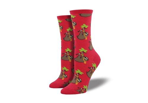 Socksmith Socksmith - Sloth Bling Red - Women's Socks