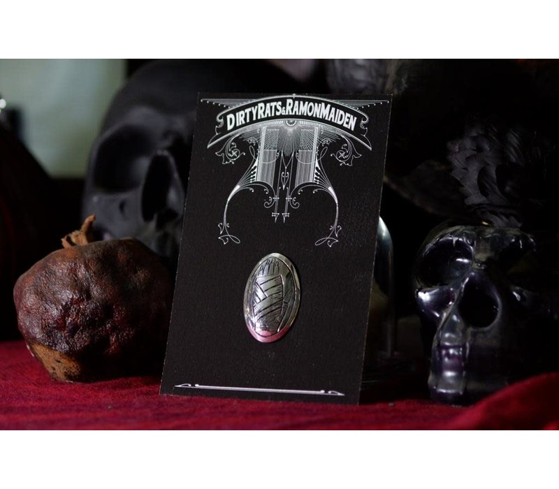 SixZeros & Ramon Maiden - Hand Brooch - Sterling Silver