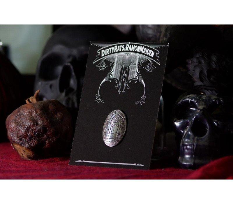 SixZeros & Ramon Maiden - Mask Brooch - Sterling Silver