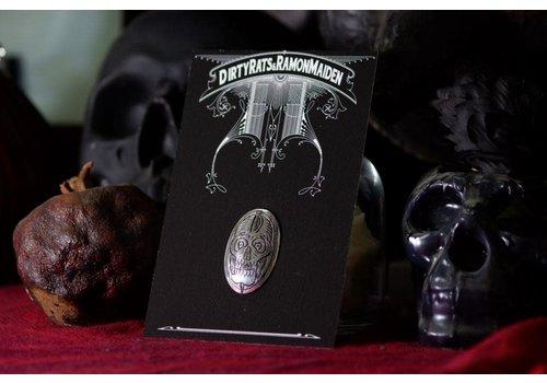 Six Zeros SixZeros & Ramon Maiden - Skull Brooch - Sterling Silver