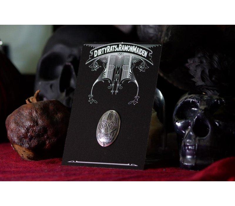 SixZeros & Ramon Maiden - Skull Brooch - Sterling Silver