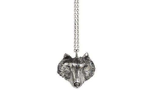 Michi Roman Michi Roman - Wolf Necklace Sterling Silver