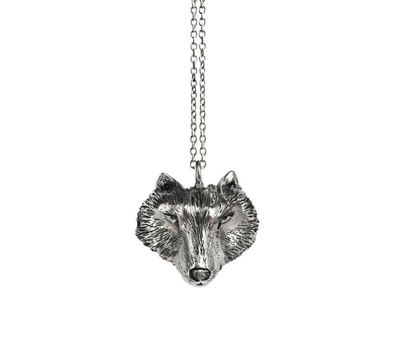 Michi Roman - Wolf Necklace Silver