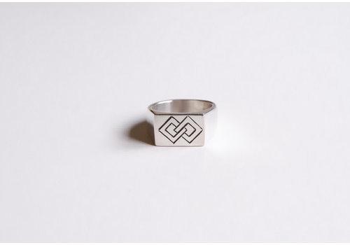 Six Zeros Six Zeros - Linked Ring - Silver