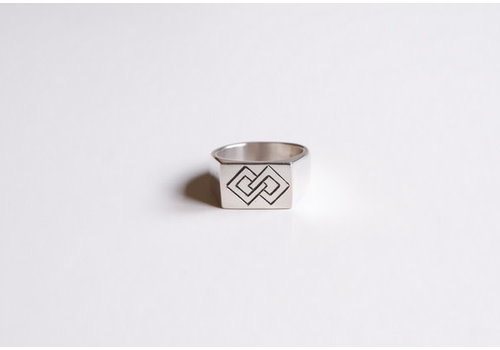 Six Zeros SixZeros - Linked Ring - Silver