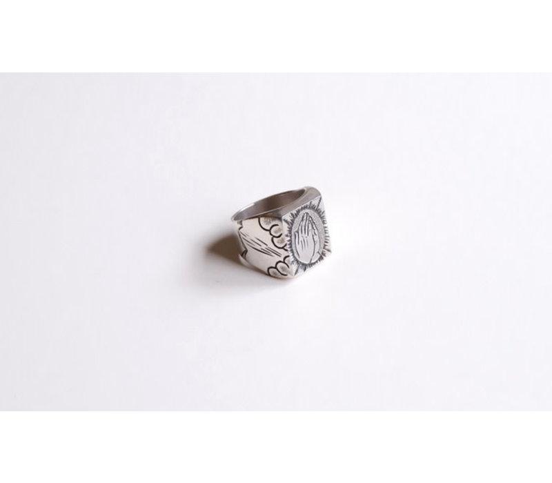 SixZeros - Pray Ring - Silver