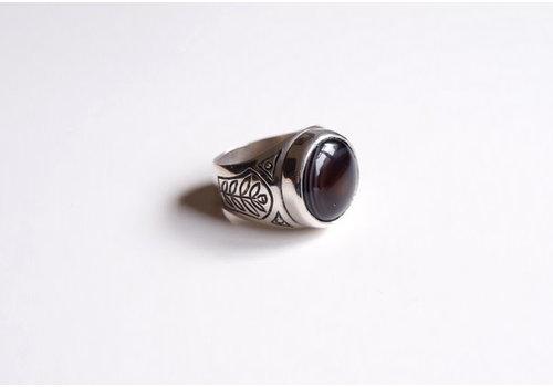 Six Zeros Six Zeros - Onyx Ring - Silver