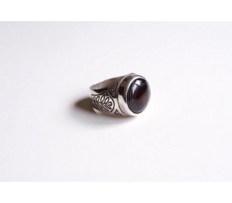 SixZeros - Onyx Ring - Silver