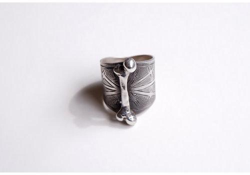 Six Zeros SixZeros - Bone Ring - Silver