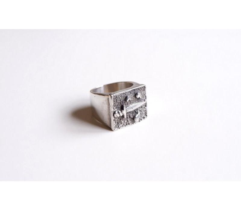 SixZeros - Puñal Ring - Silver