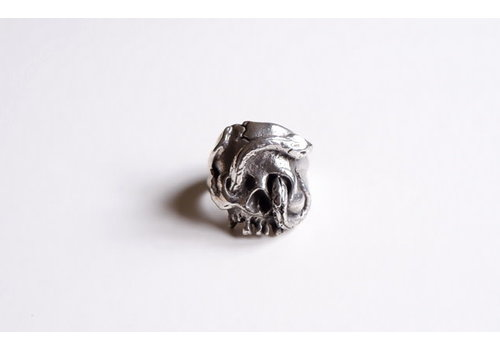 Six Zeros SixZeros - Calavera y Serpiente Ring  - Silver