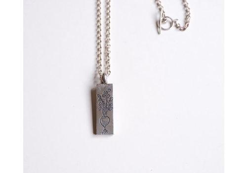 Six Zeros Six Zeros - Plant Based Necklace - Silver