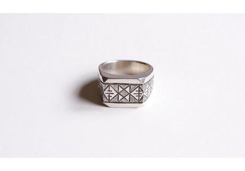 Six Zeros SixZeros - Geometric Ring - Silver