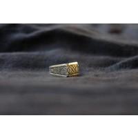 SixZeros - Geometric Ring - Silver
